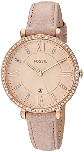 フォッシル 腕時計 レディース ES4292 【送料無料】Fossil Women's Jacqueline Stainless Steel Quartz Watch with Leather Calfskin Strap, Beige, 14 (Model: ES4292)フォッシル 腕時計 レディース ES4292