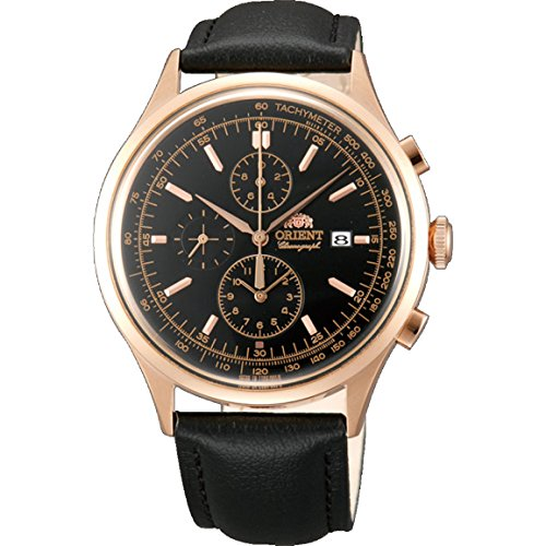 オリエント 腕時計 メンズ FTT0V001B0 Orient Men's Chronograph Black Calfskin Mineral Glass Quartz Watch FTT0V001B0オリエント 腕時計 メンズ FTT0V001B0
