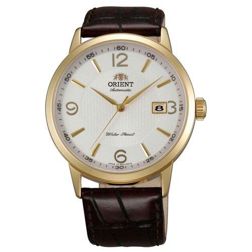 オリエント 腕時計 メンズ Orient ER27004W Men's Symphony Automatic White Dial Gold Tone Leather Strap Mechanical Watchオリエント 腕時計 メンズ