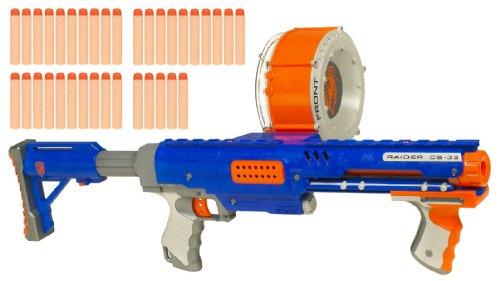 ナーフ エヌストライク アメリカ 直輸入 エリート 92356 Hasbro Nerf N-Strike Raider Rapid Fire CS-35 Dart Blaster - Blueナーフ エヌストライク アメリカ 直輸入 エリート 92356
