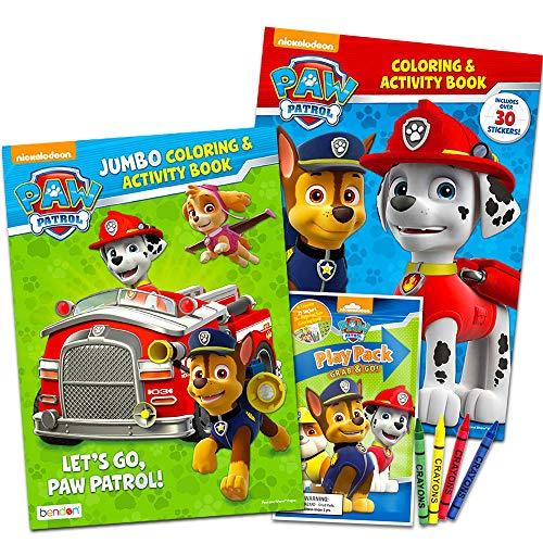 パウパトロール アメリカ直輸入 英語 バイリンガル育児 おもちゃ Paw Patrol Coloring Book Super Set -- 2 Coloring and Activity Books, Over 50 Stickers and Mini Crayonsパウパトロール アメリカ直輸入 英語 バイリンガル育児 おもちゃ