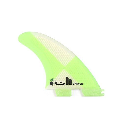 サーフィン フィン マリンスポーツ FCS II Carver Performance Core Tri Fin Set - Green - Mediumサーフィン フィン マリンスポーツ
