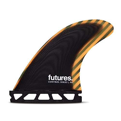 サーフィン フィン マリンスポーツ Futures F4 Control Series Thruster Tri-Fin Set - Small - Black / Orangeサーフィン フィン マリンスポーツ