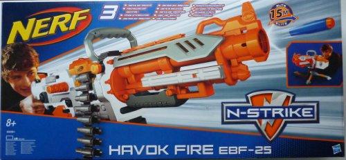 ナーフ エヌストライク アメリカ 直輸入 エリート NERF N-Strike Elite Vulcan/Havok Fire EBF25 Dart Blaster (Blue & White)ナーフ エヌストライク アメリカ 直輸入 エリート