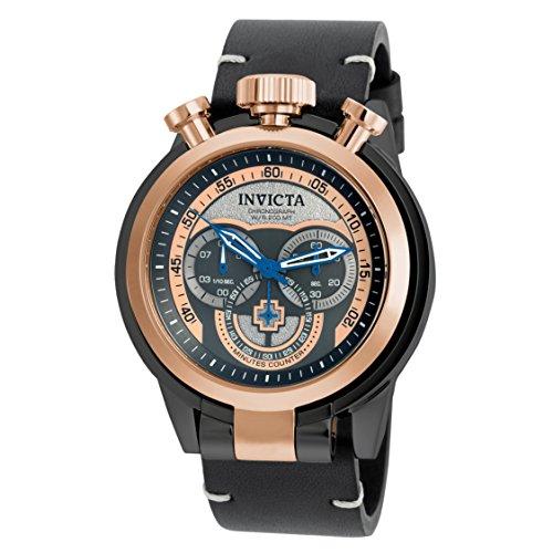 インヴィクタ インビクタ フォース 腕時計 メンズ 18774 【送料無料】Invicta Men's I-Force Black Leather Band Steel Case Quartz Rose Gold-Tone Dial Analog Watch 18774インヴィクタ インビクタ フォース 腕時計 メンズ 18774
