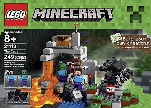 レゴ マインクラフト Lego Minecraft Toys Premium Educational Sets Creationary Game With Minifigures For 8 Year olds Childrens Cave Boxレゴ マインクラフト