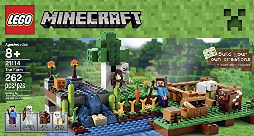 レゴ マインクラフト Lego Minecraft Toys Premium Educational Sets Creationary Game With Minifigures For 8 Year olds Childrens Farm Boxレゴ マインクラフト