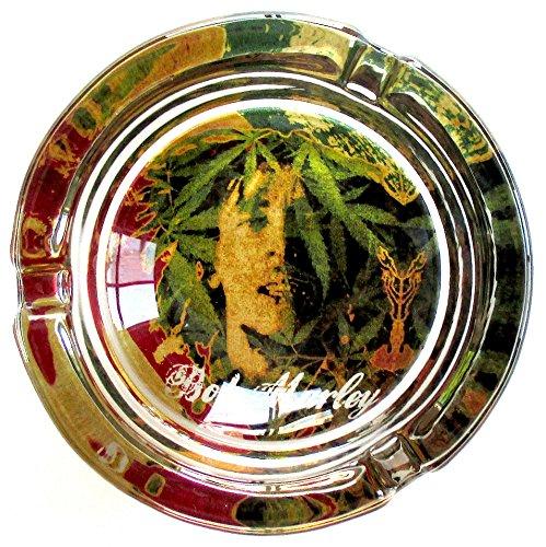 灰皿 海外モデル アメリカ 輸入物 33 Bob Marley Abstract Marijuana Weed Round Glass Ashtray灰皿 海外モデル アメリカ 輸入物 33