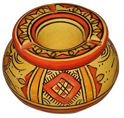灰皿 海外モデル アメリカ 輸入物 Ceramic Ashtrays Moroccan hand made Smokless Small 3.5 inches灰皿 海外モデル アメリカ 輸入物