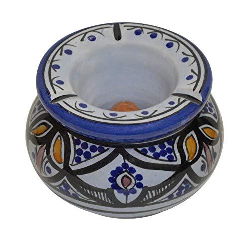 灰皿 海外モデル アメリカ 輸入物 【送料無料】Ceramic Ashtrays Hand Made Moroccan smokless Ceramic Medium灰皿 海外モデル アメリカ 輸入物