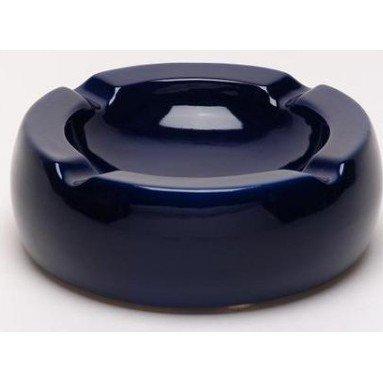 灰皿 海外モデル アメリカ 輸入物 【送料無料】Oversized Hi-Gloss Blue Ceramic Round Cigar Ashtray灰皿 海外モデル アメリカ 輸入物