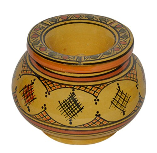 灰皿 海外モデル アメリカ 輸入物 【送料無料】Ceramic Ashtrays Moroccan Handmade Smokeless Exquisite Extra Large Glazes灰皿 海外モデル アメリカ 輸入物