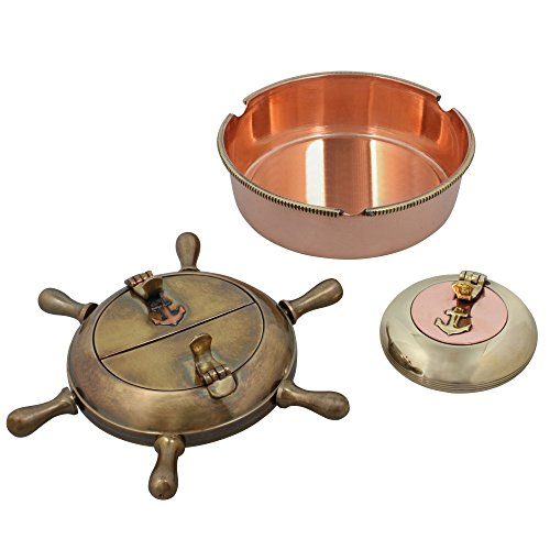最安 灰皿 輸入物 灰皿 海外モデル アメリカ アメリカ 輸入物 MN-ashtray_set_3 ShalinIndia Indian Home Decor Set of Three Cigarette Ashtrays Brass Metal Indoors Accessories灰皿 海外モデル アメリカ 輸入物 MN-ashtray_set_3, All Mtn Sports Doing:4934ce7f --- claudiocuoco.com.br