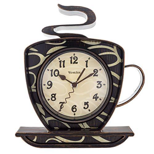 壁掛け時計 インテリア インテリア 海外モデル アメリカ 32038 【送料無料】Westclox 32038 Coffee Time 3-D Wall Clock, Metal壁掛け時計 インテリア インテリア 海外モデル アメリカ 32038