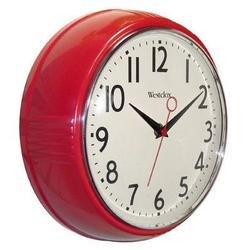 壁掛け時計 インテリア インテリア 海外モデル アメリカ Westclox - 9.5 Red Deep Wall Clock