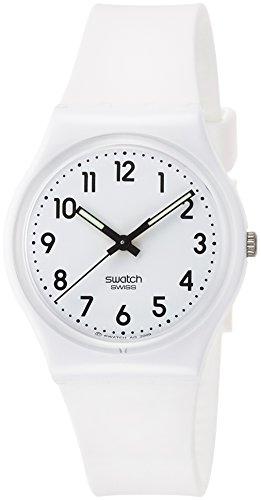 スウォッチ 腕時計 レディース GW151O Swatch Originals Just White White Dial Silicone Strap Unisex Watch GW151Oスウォッチ 腕時計 レディース GW151O