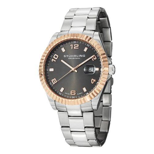 ストゥーリングオリジナル 腕時計 メンズ 499.332A154 【送料無料】Stuhrling Original Men's 499.332A154 Regency Date Silverストゥーリングオリジナル 腕時計 メンズ 499.332A154
