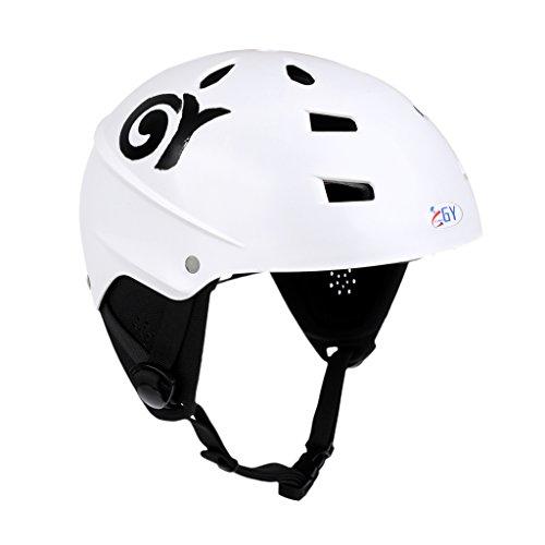 ウォーターヘルメット 安全 マリンスポーツ サーフィン ウェイクボード MonkeyJack CE Approved White XL 63-65cm Safety Helmet with Air Vents for Water Sport Canoeing Kayaking Wakeboarding ウォーターヘルメット 安全 マリンスポーツ サーフィン ウェイクボード
