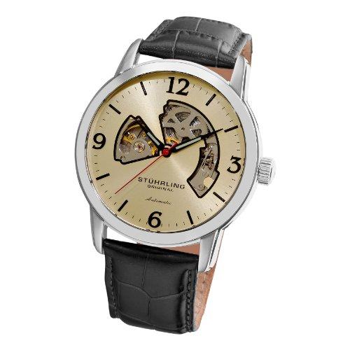 ストゥーリングオリジナル 腕時計 メンズ 1074.331543 Stuhrling Original Men's 1074.331543 Lancet Automatic Skeleton Ivory Dial Watchストゥーリングオリジナル 腕時計 メンズ 1074.331543