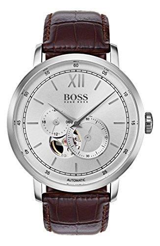 ヒューゴボス 高級腕時計 メンズ Hugo Boss 1513505 Signature Timepiece Men's Watch Brown 44mm Stainless Steelヒューゴボス 高級腕時計 メンズ