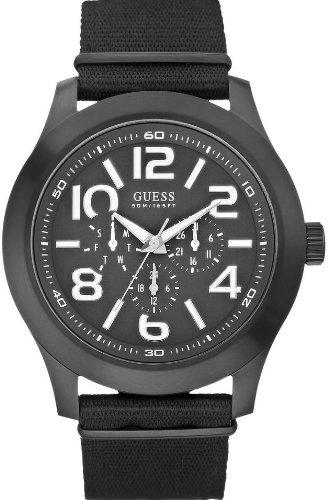 腕時計 ゲス GUESS メンズ W11623G1 【送料無料】W11623G1 Guess Rugged Black Fabric Chronograph Mens Watch腕時計 ゲス GUESS メンズ W11623G1
