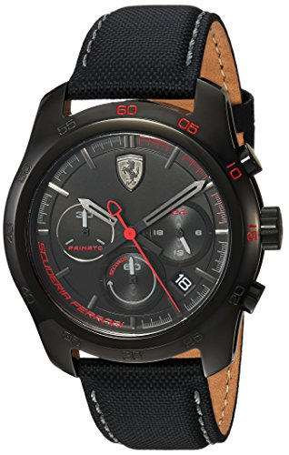 腕時計 フェラーリ メンズ 830446 【送料無料】Ferrari Men's PRIMATO Stainless Steel Quartz Watch with Nylon Strap, Black, 22 (Model: 830446)腕時計 フェラーリ メンズ 830446