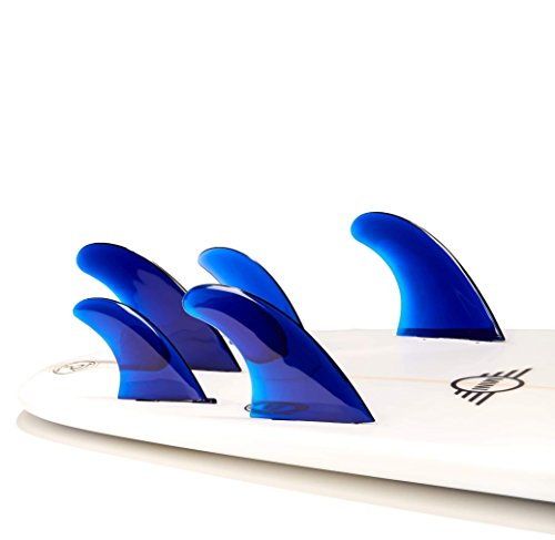 サーフィン フィン マリンスポーツ FIVE-BLUE- Dorsal Performance Flexrez Surfboard Thruster/Quad Surf Fins (5) FCS Compatible Blueサーフィン フィン マリンスポーツ FIVE-BLUE-