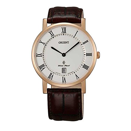 オリエント 腕時計 メンズ FGW0100EW0 【送料無料】Orient FGW0100EW0 42mm Gold Plated Stainless Steel Case Brown Calfskin Synthetic Sapphire Men's Watchオリエント 腕時計 メンズ FGW0100EW0