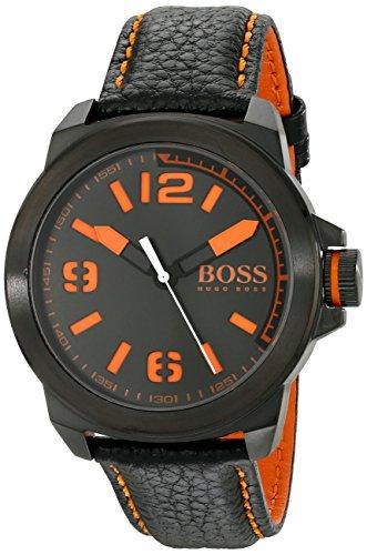 ヒューゴボス 高級腕時計 メンズ 1513152 【送料無料】BOSS Orange Men's 1513152 New York Black Watch with Leather Bandヒューゴボス 高級腕時計 メンズ 1513152