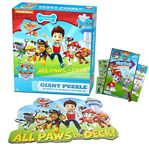 パウパトロール アメリカ直輸入 英語 バイリンガル育児 おもちゃ Paw Patrol Giant Floor Puzzle Set For Kids and Toddlers (3 Foot Puzzle, 46 Pieces, Bonus Stickers)パウパトロール アメリカ直輸入 英語 バイリンガル育児 おもちゃ