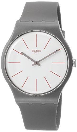 スウォッチ 腕時計 メンズ SUOC107 【送料無料】Swatch Originals Greensounds White Dial Silicone Strap Unisex Watch SUOC107スウォッチ 腕時計 メンズ SUOC107