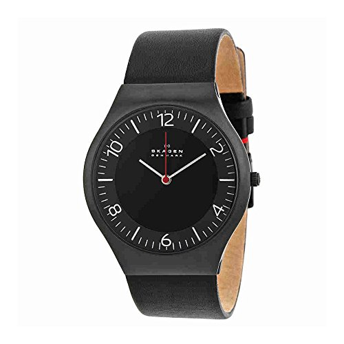 スカーゲン 腕時計 メンズ SKW6113 【送料無料】Skagen Men's SKW6113 Grenen Quartz 3 Hand Stainless Steel Black Watchスカーゲン 腕時計 メンズ SKW6113