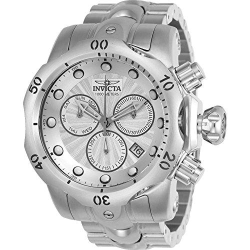 インヴィクタ インビクタ ベノム 腕時計 メンズ 23885 Invicta 23885 Men's Venom Silver Tone Dial Stainless Steel Bracelet Chronograph Dive Watchインヴィクタ インビクタ ベノム 腕時計 メンズ 23885