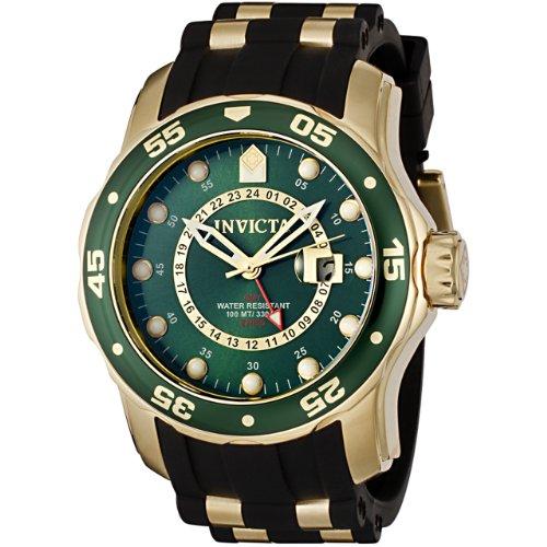 インヴィクタ インビクタ プロダイバー 腕時計 メンズ 6994 【送料無料】Invicta Men's 6994 Pro Diver Collection GMT Green Dial Black Polyurethane Watchインヴィクタ インビクタ プロダイバー 腕時計 メンズ 6994