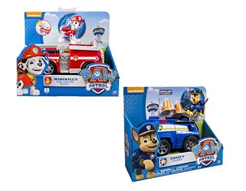 パウパトロール アメリカ直輸入 英語 バイリンガル育児 おもちゃ Nickelodeon, Paw Patrol - Chase's Cruiser, Marshall's Fire Fightin' Truck - 2 Vehicle and Figure sets bundleパウパトロール アメリカ直輸入 英語 バイリンガル育児 おもちゃ