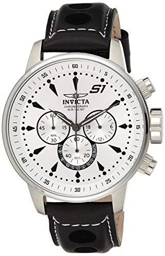 インヴィクタ インビクタ 腕時計 メンズ 23599 Invicta Men's S1 Rally Stainless Steel Quartz Watch with Leather-Calfskin Strap, Black, 22 (Model: 23599)インヴィクタ インビクタ 腕時計 メンズ 23599
