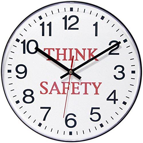 壁掛け時計 インテリア インテリア 海外モデル アメリカ 90/00TS-1 【送料無料】Infinity Instruments 12' Think Safety - Black壁掛け時計 インテリア インテリア 海外モデル アメリカ 90/00TS-1