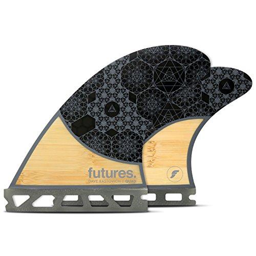 サーフィン フィン マリンスポーツ 【送料無料】Futures Fins - Rasta HC Quad - Bamboo/Greyサーフィン フィン マリンスポーツ