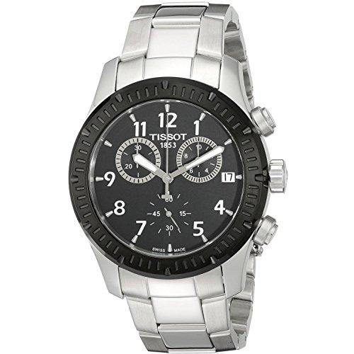 ティソ 腕時計 メンズ T0394172105700 Tissot V8 Chronograph Black Dial Men's Watch T0394172105700ティソ 腕時計 メンズ T0394172105700