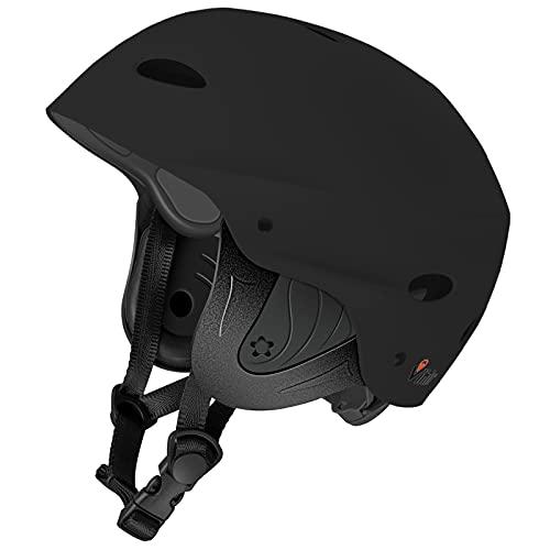 ウォーターヘルメット 安全 マリンスポーツ サーフィン ウェイクボード Vihir Adult Water Skate Bike Helmet Multi Sports Skateboard Scooter Men Women Dial Helmet, Black, Mウォーターヘルメット 安全 マリンスポーツ サーフィン ウェイクボード