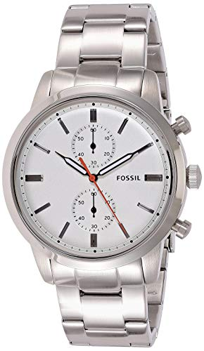 フォッシル 腕時計 メンズ FS5346 Fossil Men's 44mm Townsman Quartz Watch with Stainless-Steel Strap, Silver, 22 (Model: FS5346)フォッシル 腕時計 メンズ FS5346