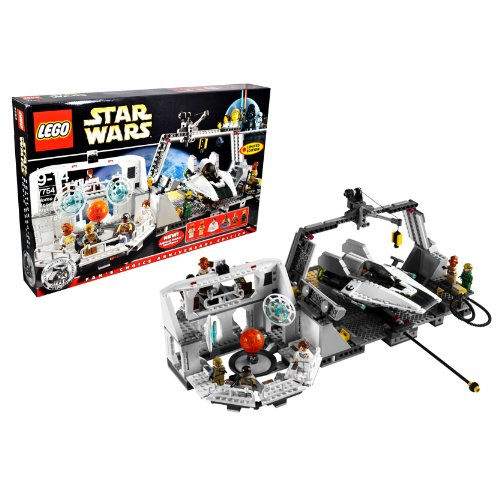 レゴ スターウォーズ 7754 Lego Year 2009 Star Wars 10th Anniversary Classic Series Limited Edition Set #7754 - HOME ONE MON CALAMARI STAR CRUISER with Command Center, Briefing Room with Death Star