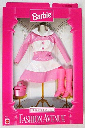 バービー バービー人形 着せ替え 衣装 ドレス 18126 【送料無料】Barbie Fashion Avenue Pink and White Vinyl Dress, Boots and Purseバービー バービー人形 着せ替え 衣装 ドレス 18126