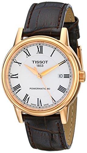 ティソ 腕時計 メンズ T0854073601300 【送料無料】Tissot Men's T0854073601300 Carson Analog Display Swiss Automatic Brown Watchティソ 腕時計 メンズ T0854073601300
