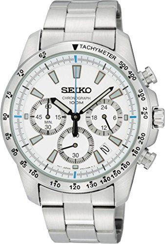 セイコー 腕時計 メンズ SSB025P1 Seiko Men's Analog White Dial Watchセイコー 腕時計 メンズ SSB025P1
