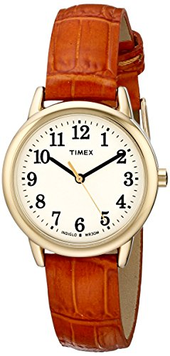 タイメックス 腕時計 レディース TW2P68800 Timex Women's TW2P68800 Easy Reader Honey Brown Croco Pattern Leather Strap Watchタイメックス 腕時計 レディース TW2P68800
