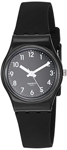 スウォッチ 腕時計 メンズ 【送料無料】Swatch Women's New Core Quartz Silicone Strap, Black, 12 Casual Watch (Model: LB170E)スウォッチ 腕時計 メンズ