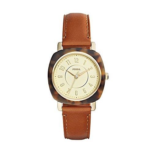 フォッシル 腕時計 レディース ES4281 Fossil Women's Idealist Slim Quartz Watch with Leather Calfskin Strap, Brown, 18 (Model: ES4281)フォッシル 腕時計 レディース ES4281