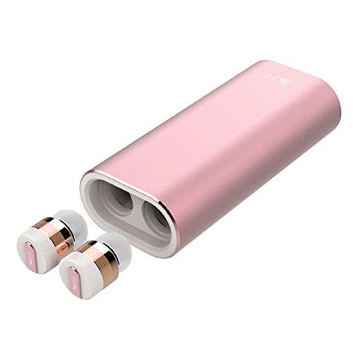 海外輸入ヘッドホン ヘッドフォン イヤホン 海外 輸入 BI9317 Beat-in Wireless Earphone Power Bank Bluetooth 4.1 compatible Left and right complete independent type BI9317 (Rose Gold)海外輸入ヘッドホン ヘッドフォン イヤホン 海外 輸入 BI9317