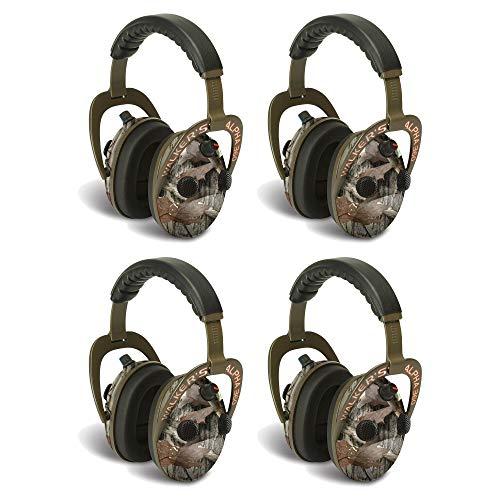 海外輸入ヘッドホン ヘッドフォン イヤホン 海外 輸入 Walkers Alpha Muffs 360 Hunting 9x Hearing Enhancement Earmuffs, Camo (4 Pack)海外輸入ヘッドホン ヘッドフォン イヤホン 海外 輸入